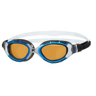 Zoggs Predator Flex Ultra Reactor Brille Blå/Sølv, Polarisert linse