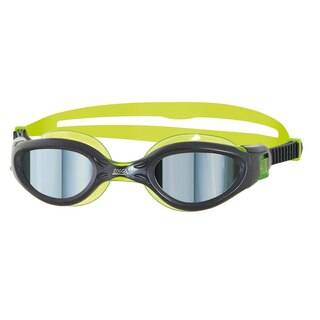 Zoggs Phantom Elite Mirror Jr Brille Sort/Grønn, Speil sotfarget linse