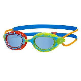 Zoggs Predator Junior Svømmebrille Multifarget, Blå linser