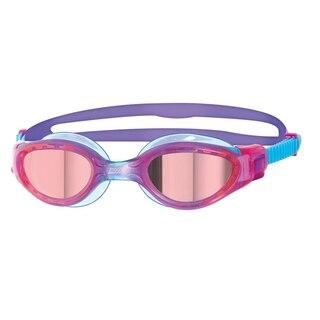 Zoggs Phantom Elite Mirror Jr Brille Lilla/Blå, Speil rosa linser