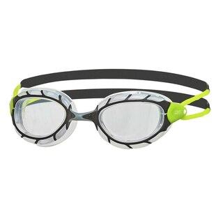 Zoggs Predator Svømmebrille Grå/Grønn, Klar linse