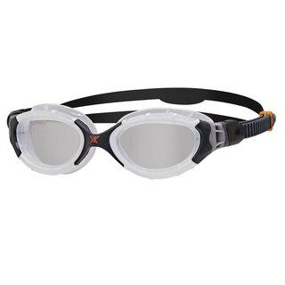 Zoggs Predator Flex Svømmebrille Hvit/Sort, Klare linser