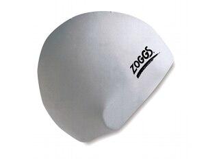 Zoggs Standard Silikon Badehette Hvit, Onesize
