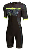 Zone3 Activate+ Short Sleeve Tri Suit Revolution Sort/Grønn