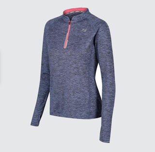 Zone3 Soft Touch Tech LS Dam Tröja Petrol Blue/Neon Coral