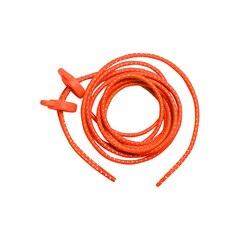 Zone3 Elastiske Skolisser Neon Oransje, hurtigsnøring!