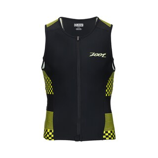 Zoot Performance Tri Full-Zip Singlet Volt Checkers